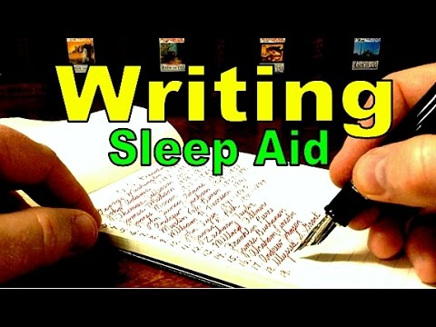 Writing List of Presidents - ASMR Sleep Aid