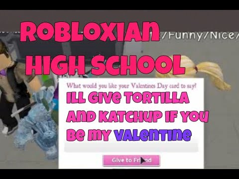 Giving people funny and Cringy Valentines Day Cards (Robloxin HighSchool) (Roblox)