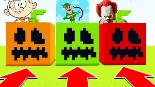 Minecraft: DO NOT CHOOSE THE WRONG PUMPKIN (LoudHouse,BowMasters,PennyWise)(XboxOne/PE/MCPE)