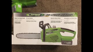 "Unboxing & Review of the Earthwise 12"" Cordless Chainsaw (Model #LCS32412)"