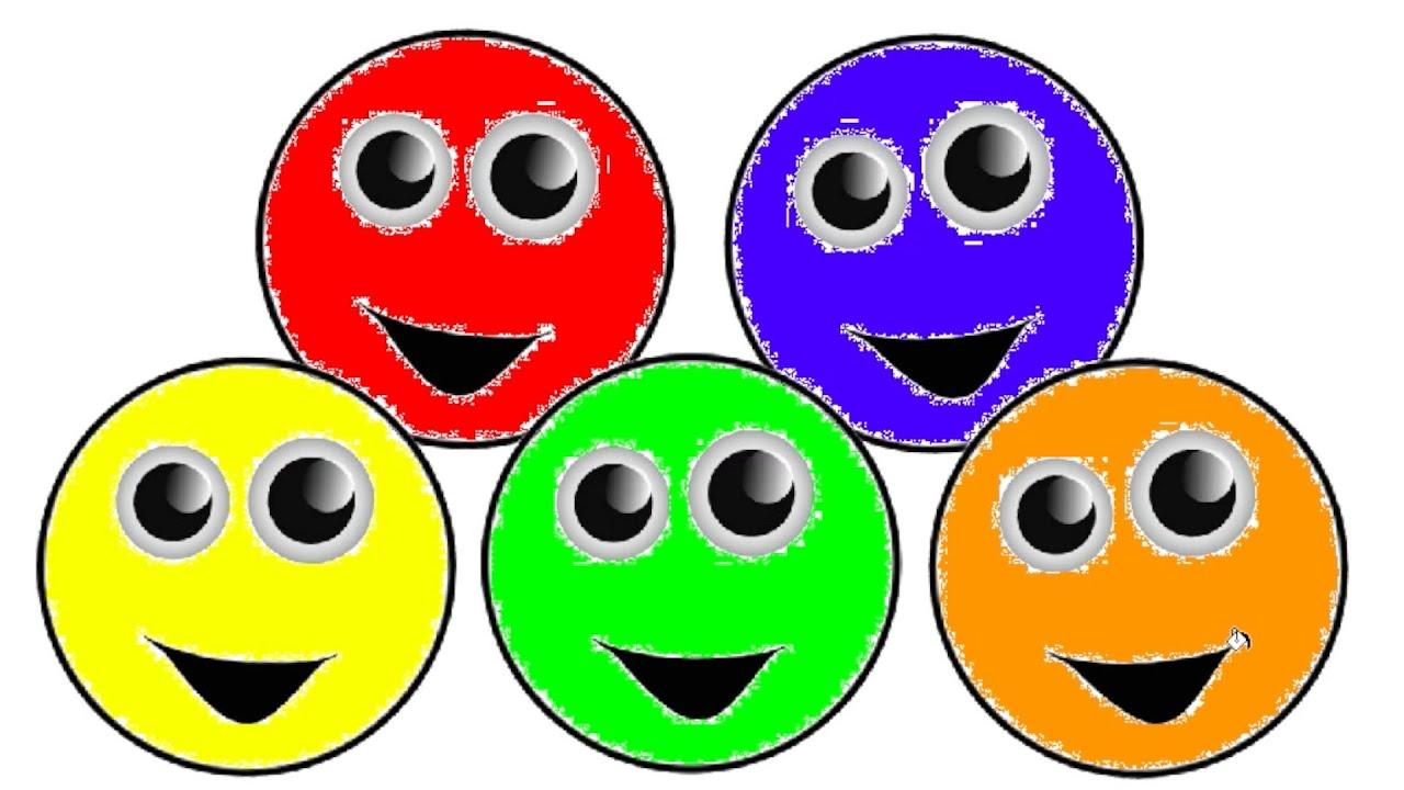 learn colors for children with smiley faces coloring page youtube