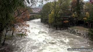 Crue de l'Ardèche et de la Volane 4 nov 2014 (4K)