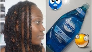 Remove Buildup & Dirt from Locs with Dawn Dishwashing Soap