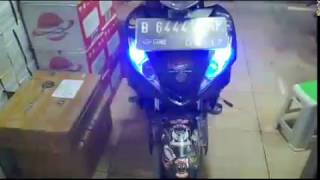 Modifikasi lampu sein + Strobo Jupiter MX old