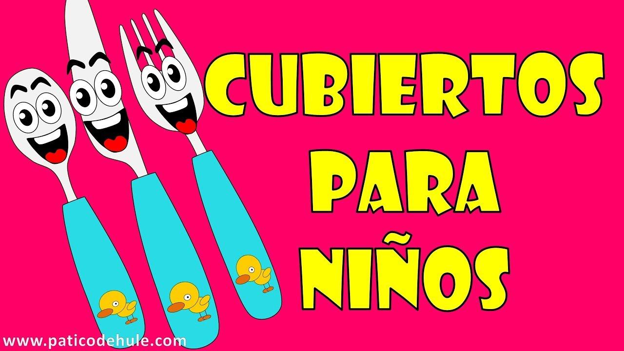 La cuchara el cuchillo y el tenedor para ni os los for Tenedor y cuchillo en la mesa