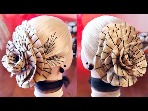 Причёска - Роза на невидимках - Hairstyles by REM