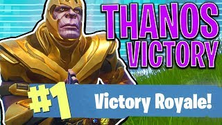 EPIC THANOS VICTORY!! - FORTNITE BATTLE ROYALE!