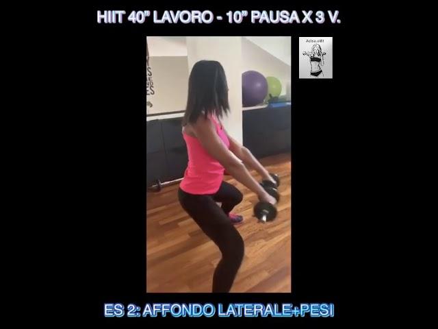 """CIRCUITO HIIT 40"""" LAVORO-10"""" PAUSA X 3 VOLTE #56"""
