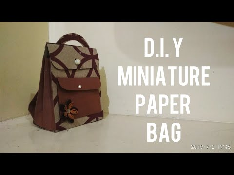 D.I.Y MINIATURE PAPER SCHOOL BAG