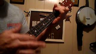 how to play every rose has a thorn with baritone ukulele