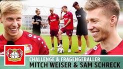 Bayer 04 Leverkusen im Doppelpack!   Torwand-Challenge vs. Mitchell Weiser & Sam Schreck   Kickbox