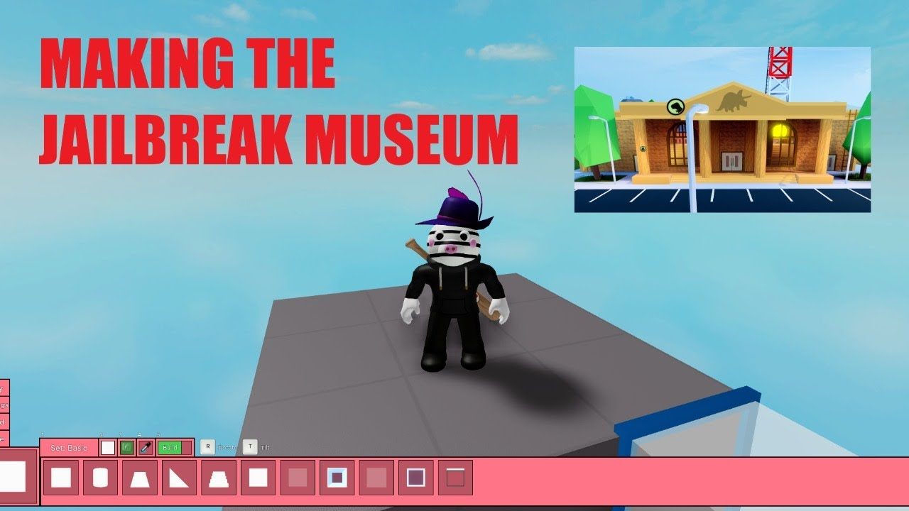 MAKING THE JAILBREAK MUSEUM! - Roblox Piggy Build Mode