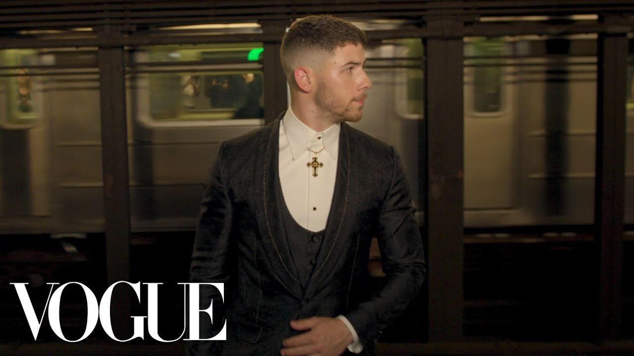 Nick Jonas Gets Met Gala Ready: Push-ups, Pizza, and Dreams of Rihanna | Vogue