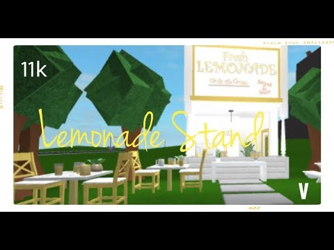Bloxburg Speedbuild Lemonade Stand 11k Youtube