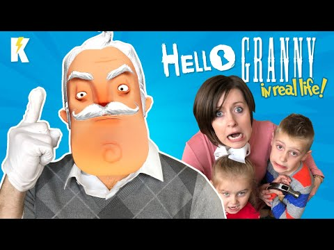 Escape Hello Granny! (Hello Neighbor In REAL LIFE Game In Our House) | KIDCITY