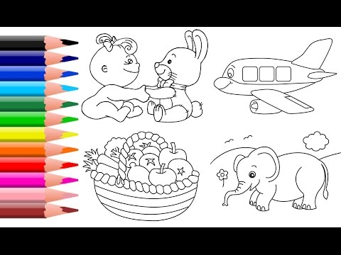 Learn Colors for Kids Vegetables Coloring Page Animal Coloring Book Castle Colouring
