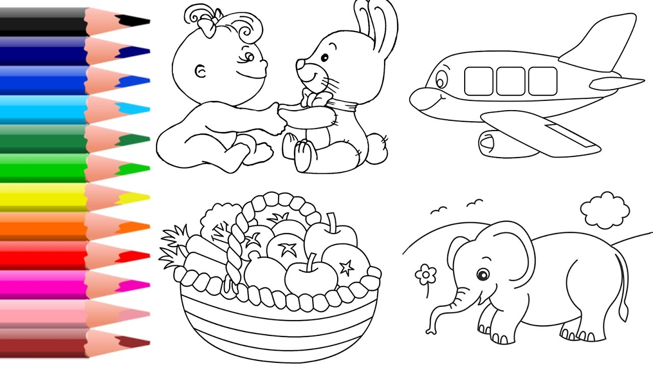learn colors for kids vegetables coloring page animal coloring book castle colouring - Coloring Pages Kids Vegetables