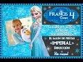 Invitación Princesa Elsa de Frozen Disney con foto ¡Gratis! ¡Gratis! ¡Gratis!