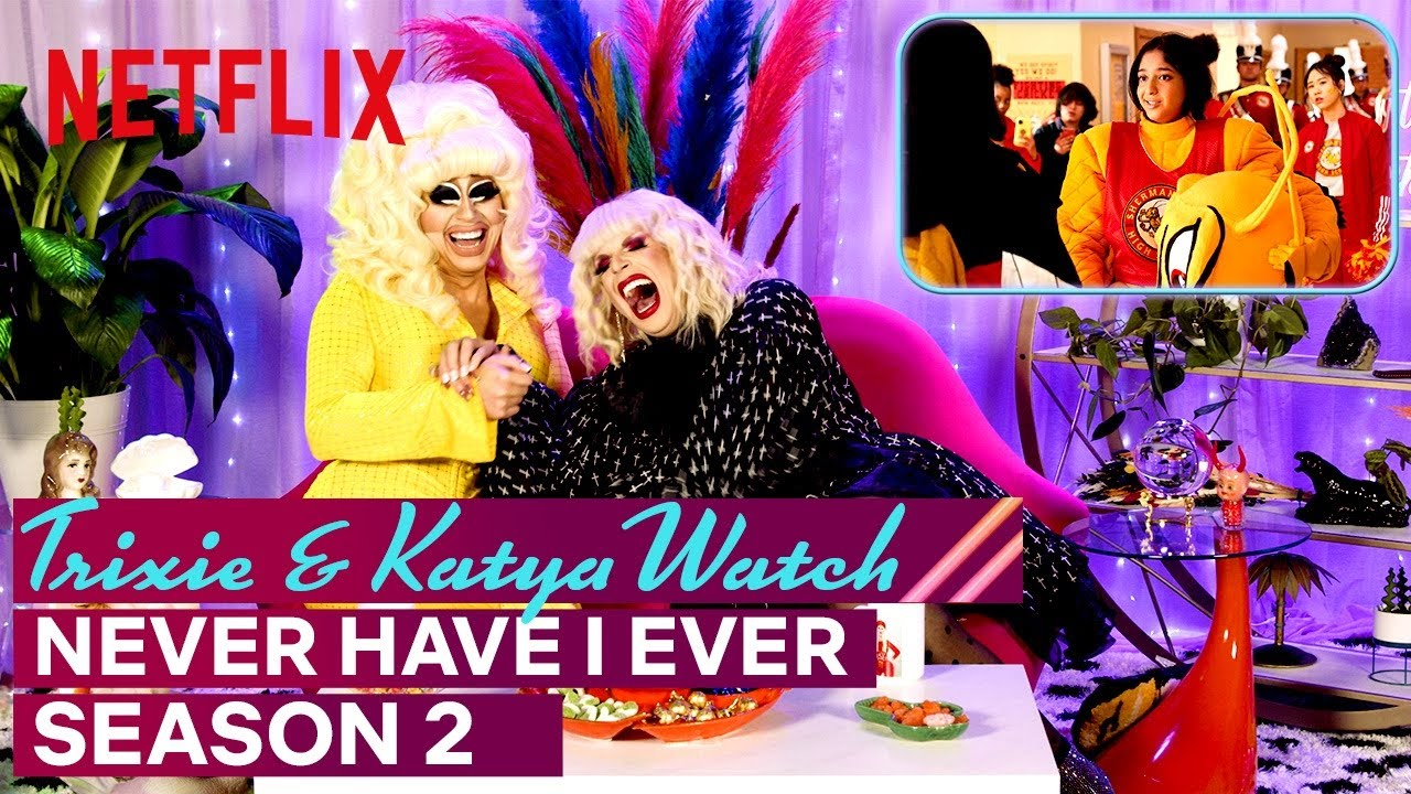Download Drag Queens Trixie Mattel & Katya React to Never Have I Ever Season 2 | I Like to Watch | Netflix