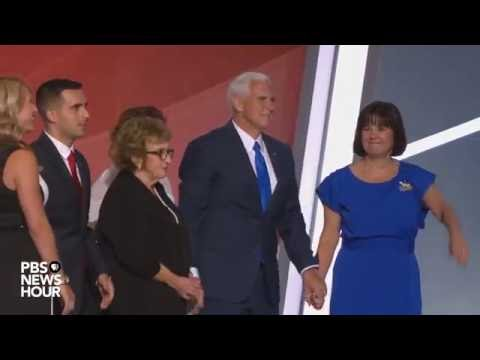 Thumbnail: Gov. Mike Pence greets Trump, family on RNC stage