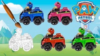 LEARNING Colors PAW Patrol Chase Police Truck CHANGE Color - Pages Video For Kids Episode 28