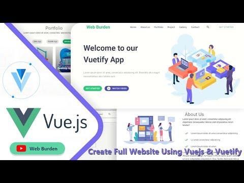 Vuetify: Create A Website using Vuejs & Vuetify