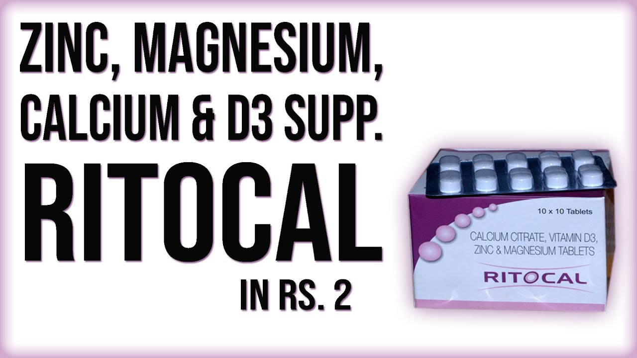 Ritocal Zinc Magnesium Calcium D3 Rich Supplement From Chemist