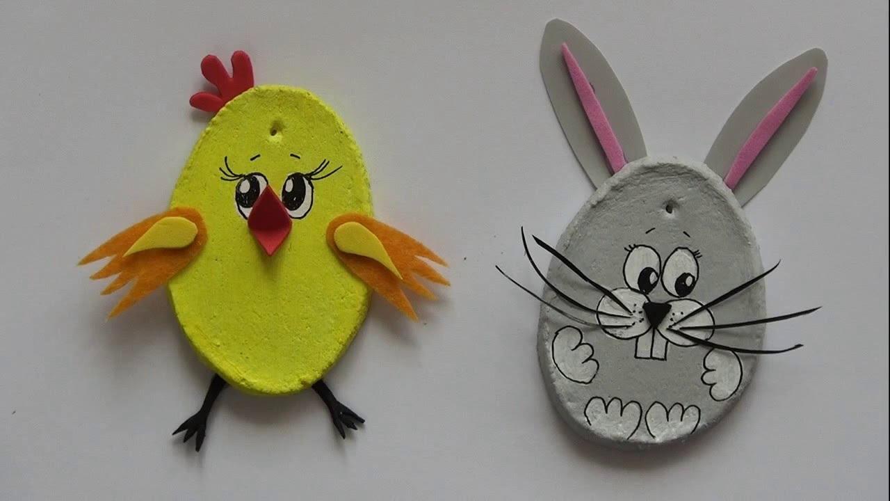 Ozdoby Wielkanocne Kurczak I Zajączek Youtube
