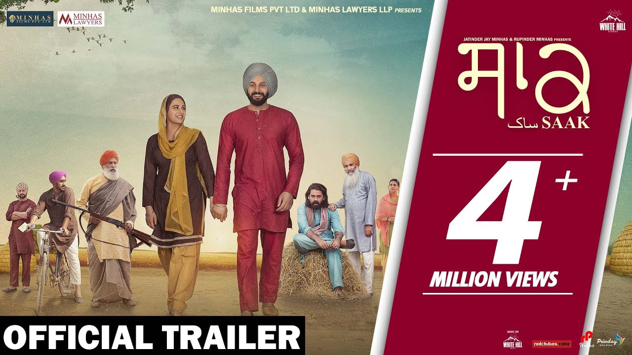 Saak (Official Trailer) Jobanpreet Singh | Mandy Takhar | In Cinemas 6th Sept | White Hill Music