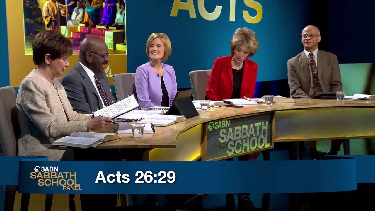 "Lesson 12: ""Confinement in Caesarea"" - 3ABN Sabbath School Panel - Q3 2018"
