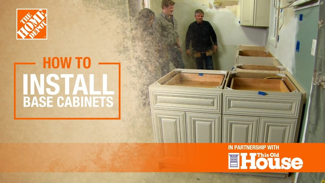 How To Install Base Cabinets The Home Depot With This Old House Youtube
