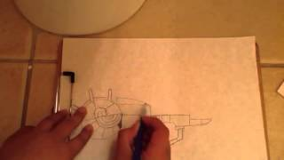 How to draw a RayGun & Glock 17: tutorial