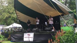 "Playing ""Kick of the Good Stuff"" at the Stewart Park Festival in Perth ON"