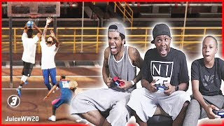 WE MAY BE BUMS! BUT WE GON' FIGHT! - NBA 2K17 MyPark Gameplay