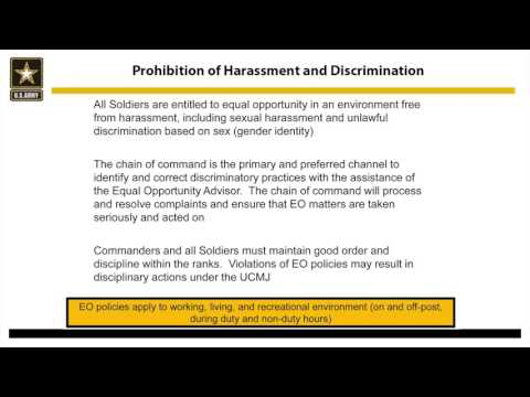 U.S. Army Transgender Policy Tier 3 Training for Units and Soldiers