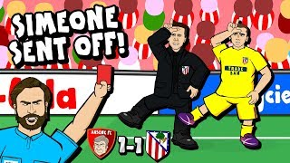 🔴SIMEONE SENT OFF!🔴 Bad Lip Reading (Arsenal vs Atletico Madrid 1-1)