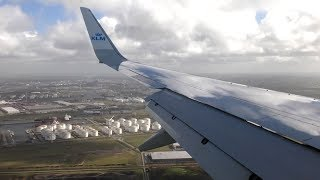 Stormy Crosswind Landing into Schiphol Airport KLM