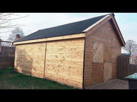 Building 6m x 4m (20' x 13') Shed
