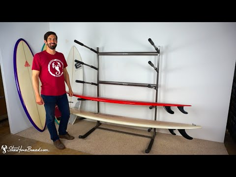 Freestanding Surf Rack | Holds 5 Surfboards | StoreYourBoard