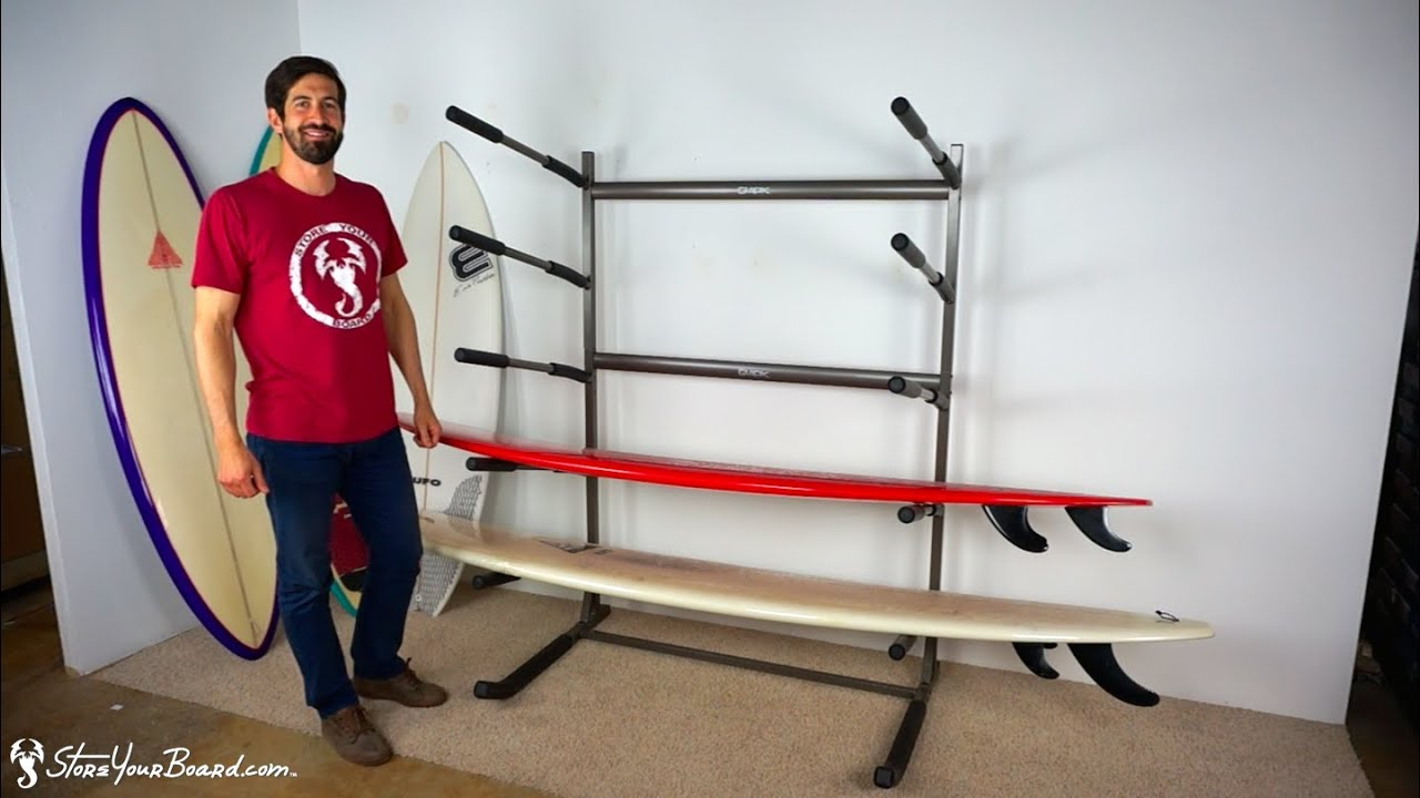 Beau Freestanding Surf Rack | Holds 5 Surfboards | StoreYourBoard