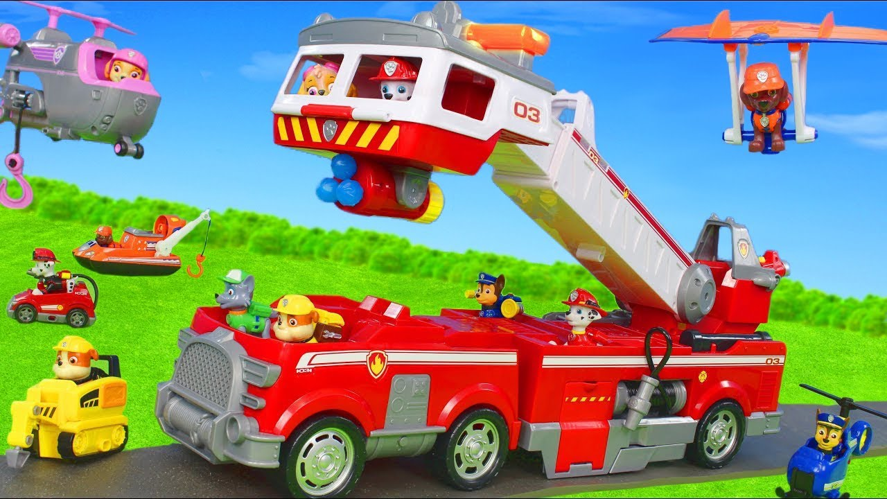 Paw Patrol Unboxing: Ultimate Rescue Fire Truck For
