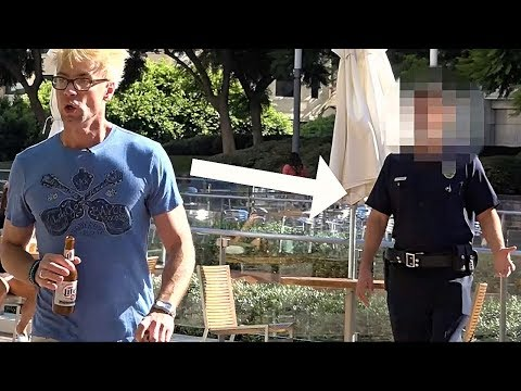 Escaping From Cops Using Magic - Drinking In Public!!!