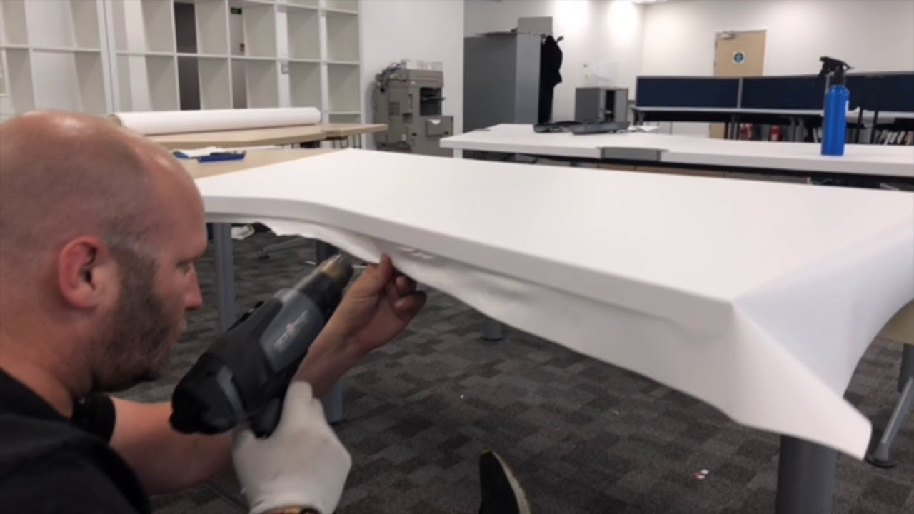 Vinyl Wrap Office Desk Refurbishment Wrapt Youtube