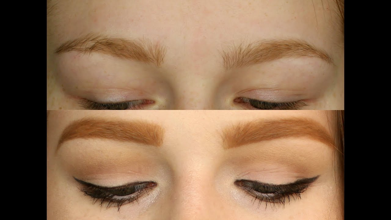 Eyebrow Tutorial Recommendations For Redheads Youtube