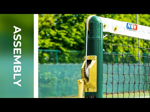 How To: Install Vermont Round Tennis Posts | Net World Sports