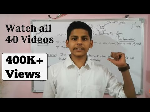 Video #01 || Chapter 1 || Accounting for partnership || fundamental ||class 12th||Accounts ||