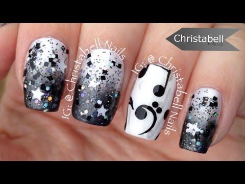 ChristabellNails Music Note Nail Art Tutorial