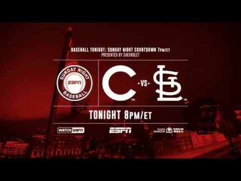 Sunday Night Baseball ESPN: Rule 55: St. Louis Cardinals/Chicago Cubs rivalry