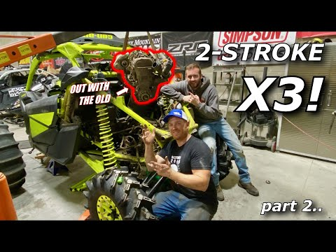 2-stroke Maverick X3 SWAP part 2! We assess the BENT FRAME and pull the engine!