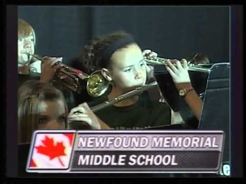 Newfound Memorial Middle School Canadian Anthem - October 25, 2013